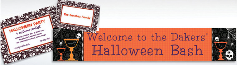 Custom Shocktails Halloween Invitations & Thank You Notes