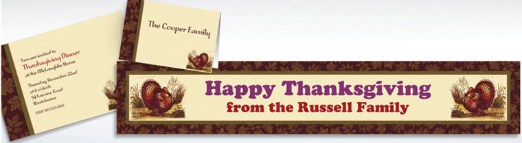 Custom Thanksgiving Sophistication Invitations & Thank You Notes