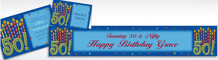 Custom Great Birthday 50th Invitations