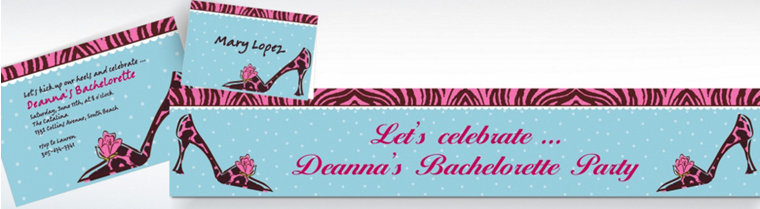 Custom Party Purse Invitations & Thank You Notes
