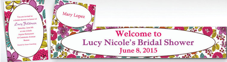 Custom Floral Chic Invitations & Thank You Notes
