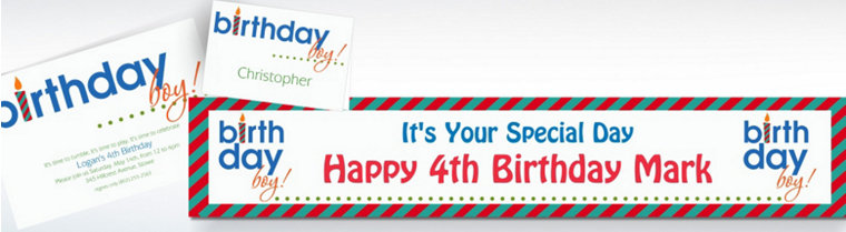 Custom Birthday Boy Invitations & Thank You Notes