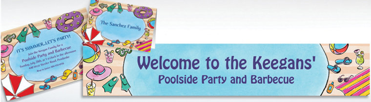 Custom Poolside Soiree Invitations & Thank You Notes