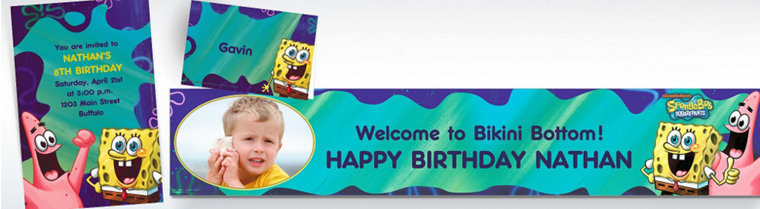 Custom SpongeBob Invitations & Thank You Notes