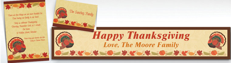 Custom Thanksgiving Holiday Invitations & Thank You Notes