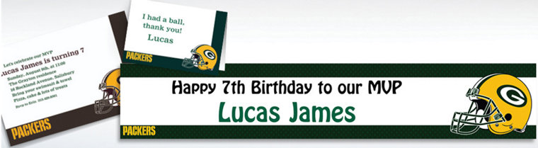 Custom Green Bay Packers Invitations & Thank You Notes