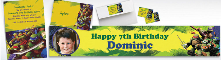 Custom Teenage Mutant Ninja Turtles Invitations & Thank You Notes