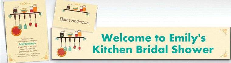 Custom Kitchen Shower Bridal Shower Invitations & Thank You Notes