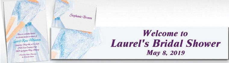 Custom Watercolor Bride Bridal Shower Invitations & Thank You Notes