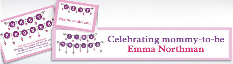 Custom Baby Clothesline Girl Invitations & Thank You Notes