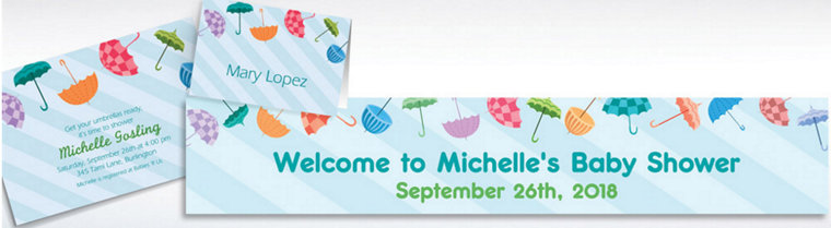 Custom Umbrella Baby Shower Invitations & Thank You Notes