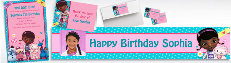 Custom Doc McStuffins Invitations & Thank You Notes