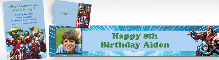 Custom Avengers Invitations & Thank You Notes