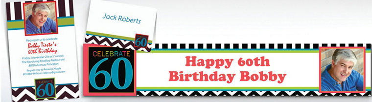 Custom 60th Birthday Invitations & Thank You Notes