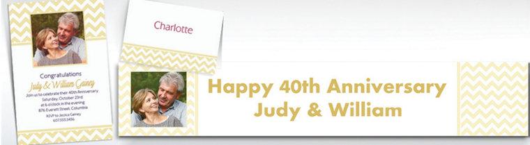 Custom Vanilla Chevron Invitations & Thank You Notes
