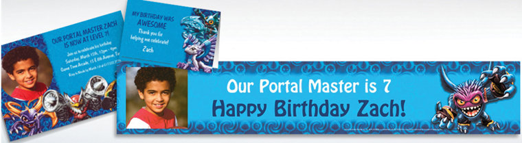 Custom Skylanders Invitations & Thank You Notes