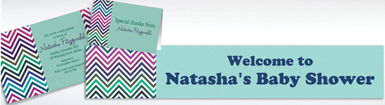 Custom Electric Wave Cool Invitations & Thank You Notes