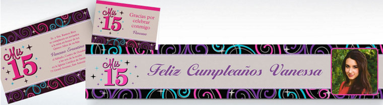 Custom Quinceanera Invitations & Thank You Notes