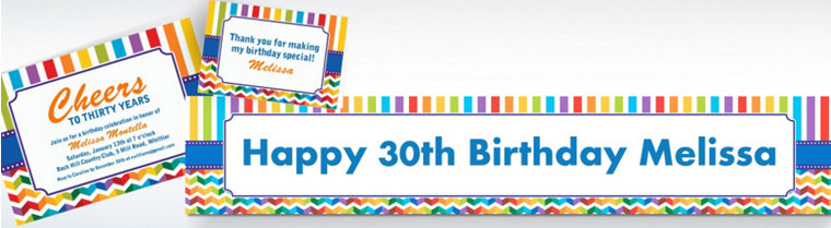 Custom Birthday Bright Invitations & Thank You Notes
