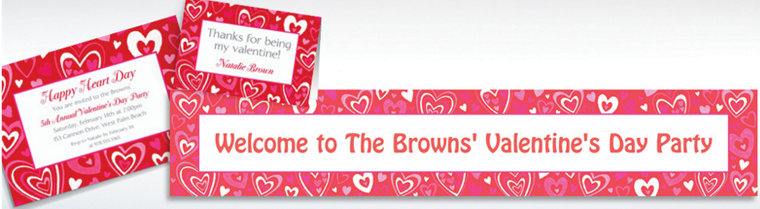 Custom Valentine Party Invitations & Thank You Notes