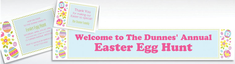 Custom Egg Hunt Invitations & Thank You Notes