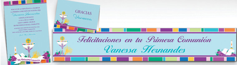 Custom Mi Primera Comunion Invitations & Thank You Notes