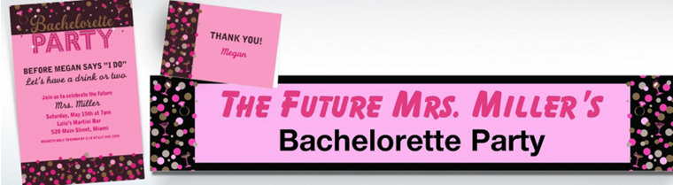 Custom Bachelorette Night Invitations & Thank You Notes