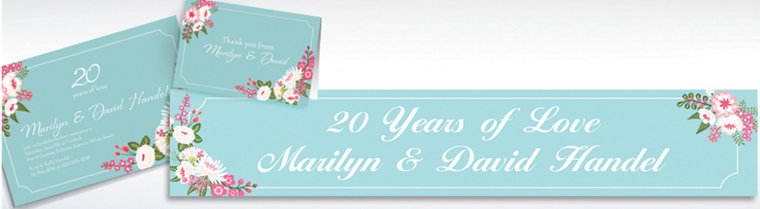 Custom Pretty Little Blossoms Invitations & Thank You Notes