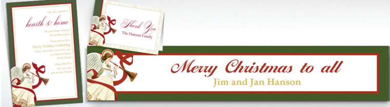 Custom Holiday Spirit Banners, Invitations & Thank You Notes