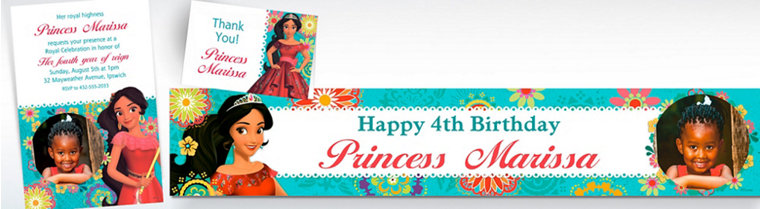 Custom Elena of Avalor Invitations, Thank You Notes & Banners