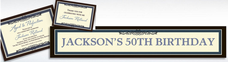 Custom Vintage Invitations, Thank You Notes & Banners