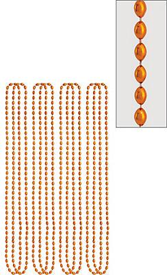 Metallic Orange Bead Necklaces 8ct
