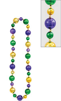 Big Mardi Gras Bead Necklace