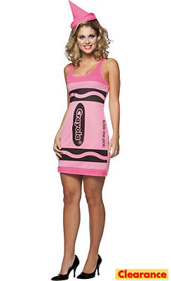 Adult Tickle Me Pink Crayola Crayon Costume