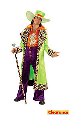 Adult Big Daddy Pimp Costume