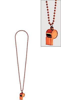 Orange Whistle Necklace