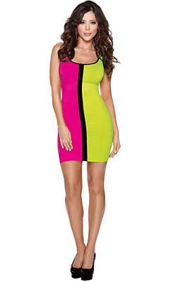 Color Block 80s Dress