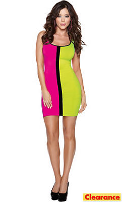 Color Block 80s Dress