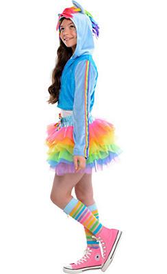 Girls Trendy Rainbow Dash Costume - My Little Pony