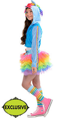 Girls Trendy Rainbow Dash Costume - My Little Pony
