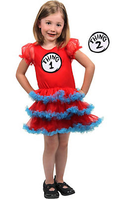 Child Thing 1 & Thing 2 Tutu Dress - Dr. Seuss