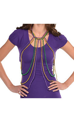 Mardi Gras Bead Body Chain