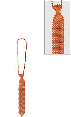 Orange Tie Bead Necklace