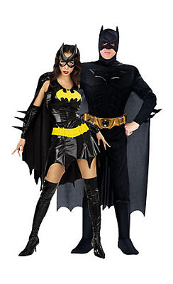 Batgirl and Batman Dark Knight Couples Costumes