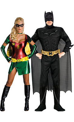 Adult Batman & Robin Couples Costumes