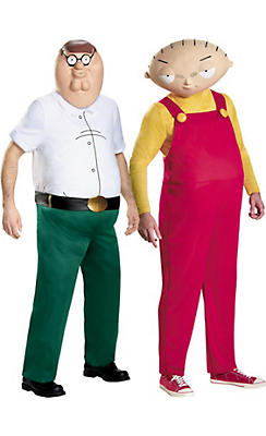 Adult Peter Griffin & Stewie Couples Costumes - Family Guy
