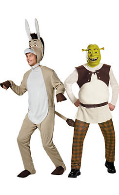 Adult Shrek & Donkey Couples Costumes