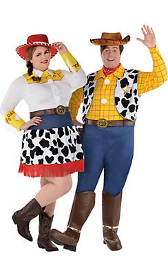 adult jessie woody couples costumes plus size toy story - Couple Halloween Costumes Scary