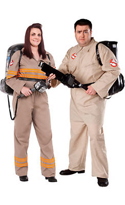 Adult Ghostbuster Couples Costumes Plus Size