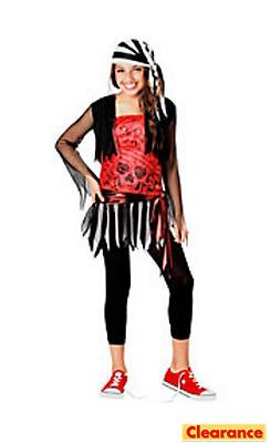 Girls Pirate Lass Costume